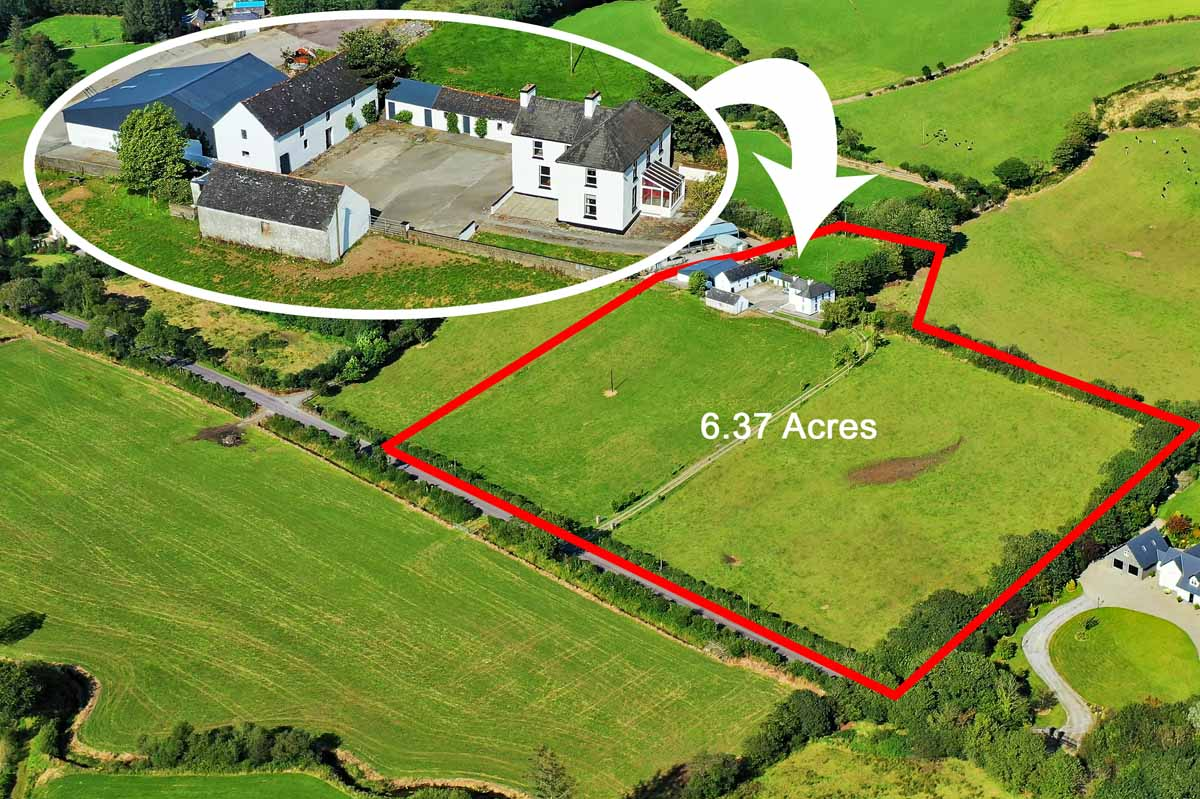 House with 6 acres at Woodview Rossmore Clonakilty