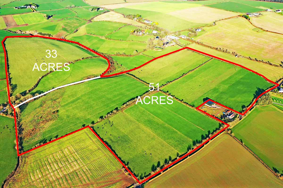 3_84 Acres Outlined in Two Lots