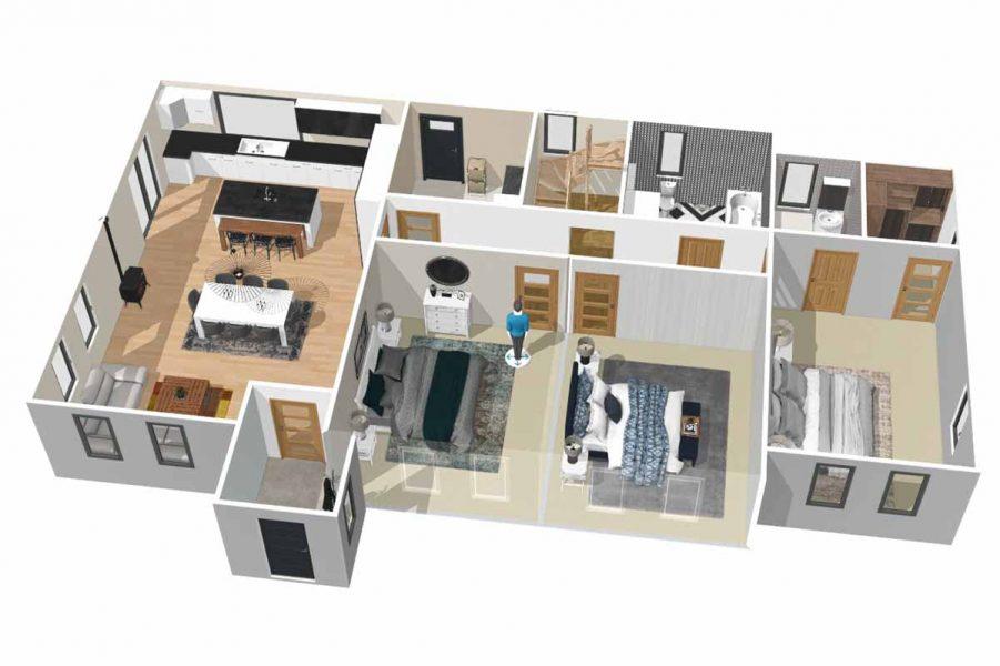 21_Ground Floor 3D Model